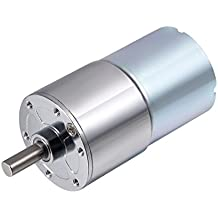 uxcell 12V DC 550RPM Speed Adjustable Reversible Gear Motor 3Ncm Electric Reduction Gearbox Centric Output Shaft
