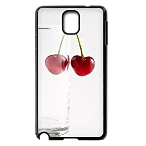 Diy Cherry Fruit Phone Case for samsung galaxy note 3 Black Shell Phone JFLIFE(TM) [Pattern-1] by ruishername
