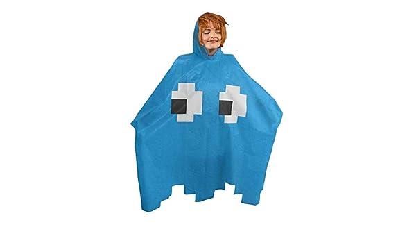 Poncho fantasma PacMan: juego de arcade disfraz: Amazon.es ...