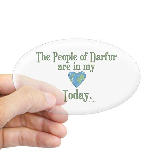 Darfur Heart - CafePress Darfur Heart 3 Oval Sticker Sticker Oval - Standard