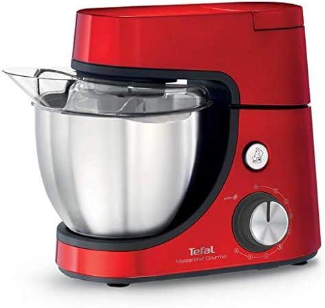 Tefal QB515G - Robot de cocina (4,6 L, Rojo, 1,5 L, Acero ...