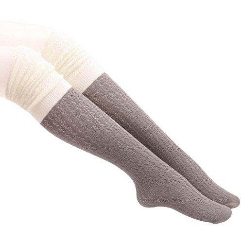 Winterkousen Voor Dames, Bijv. Uitgesneden Muts Voor Dames Van Mauve Tot Kniehoge Kousen Sokken Functie: Grijs
