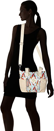 Bolso H Turquoise Shz B Whoopy T Oilily cm 13x26x38 Light x Turquesa Ornament Handbag Mujer HfIwqB