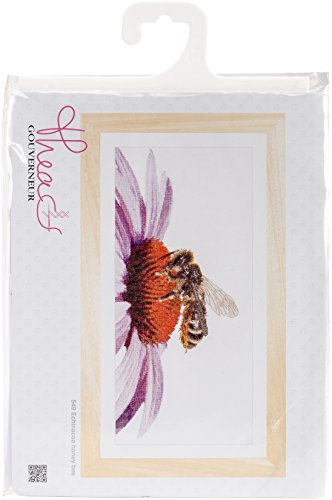 TG549A Bee On Echinacea On Aida Counted Cross Stitch Kit-17.