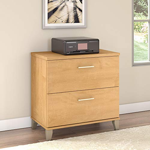 Bush Furniture Somerset Lateral File Cabinet Maple Cross