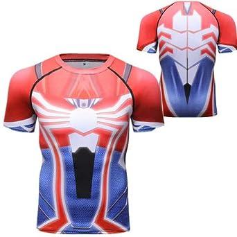 Camiseta De Compresión Impresora 3D Spider Hero Logo Hombre De ...