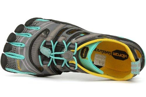 Laufschuhe Trekking Schwarz Sandal 13W4304 Damen Treksport Fivefingers Light Running Vibram Blau Grau OqZ6x