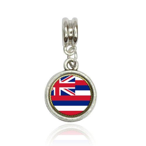Hawaii State Flag Euro European Italian Style Bracelet Bead Charm