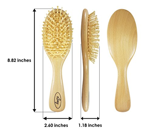 eSay Hair Comb And Brush Set For Women, Men - Hairbrush For Fine Hair And thick hair - Comb Massager Hair Growth, Wooden by eSay (Image #4)