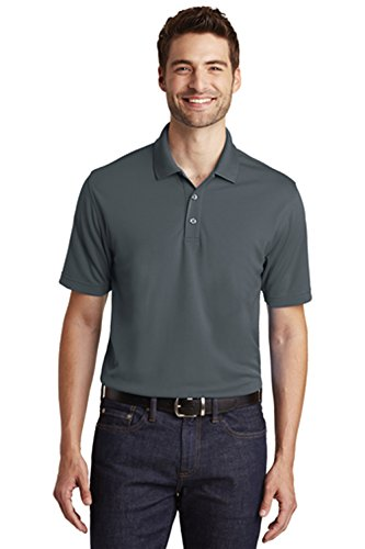 Port Authority Men's Dry Zone UV Micro-Mesh Short Sleeve Golf Polo, X-Large, Graphite