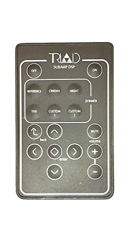 Controls Triad (Triad Subamp DSP Remote Control Rackamp 300 500 1000 Mini Bronze Silver Gold Platinum)