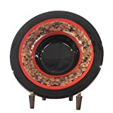 Dale Tiffany PG60110 Ebony Decorative Charger Plate with Stand, 15-Inch Diameter