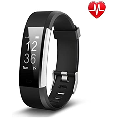 YXINY Smart Sports Wristband ID115Plus Activity Tracker Smart Bracelet IOS and Android 0 96 inches OLED Heart Rate Monitor Call Reminding Pedometer Black Blue Green Purple Red Sports amp Outdoor Estimated Price £53.97 -