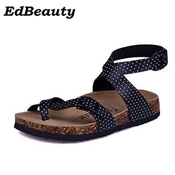 2e3e0abf9 Image Unavailable. Image not available for. Color  8 Shoe Size Men Sandals  Cork Shoes Summer Beach Shoes Fashion Flats Non-slip Flip