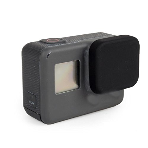 Price comparison product image Dreamyth Silicone Lens Cap For GoPro Hero 5 Camera (Black)