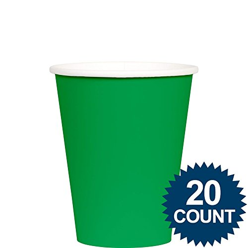 Festive Green Paper 12oz Cups 24ct