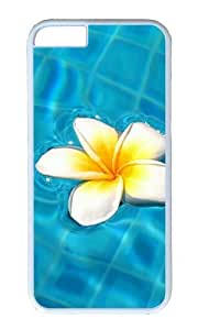 MOKSHOP Adorable Floating Flower Hard Case Protective Shell Cell Phone Cover For Apple Iphone 6 (4.7 Inch) - PC White