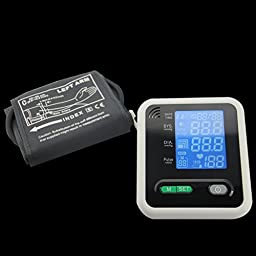 SZMWL Upper Arm Blood Pressure Monitor with Wide-Range Cuff Voice Electronic Blood Pressure Monitor