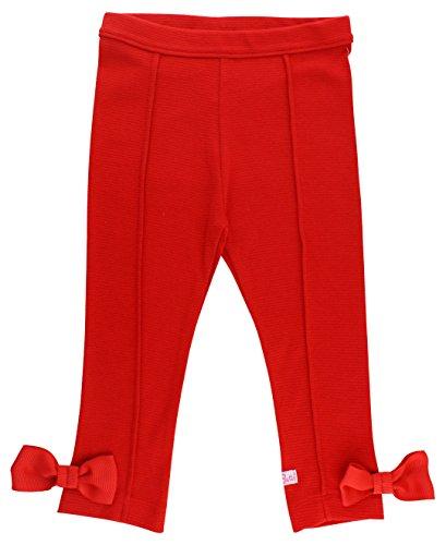 RuffleButts Baby/Toddler Girls Red Ponte Pants - ()