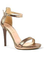 İnce Tek Bant Gold Rose Yüksek Topuklu Kadın Ayakkabı