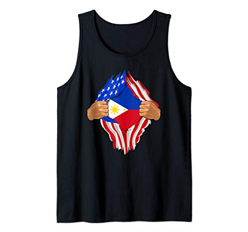 Filipino Blood Inside Me Design | The Philippines Flag Gift Tank Top