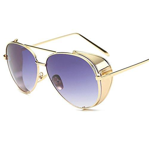 Elegantes De Color Gafas Box Gafas Sol De WHLDK Hombres Sol Viento Gafas Los Sol Gradient Film The Metal De Fresco De qnEw4g