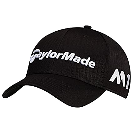 Amazon.com   TaylorMade Golf 2017 tour radar hat black   Sports ... 03cdb25f66ba