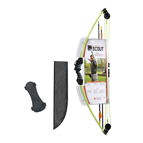 (Bear Archery Scout Youth Bow Set - Flo Green )