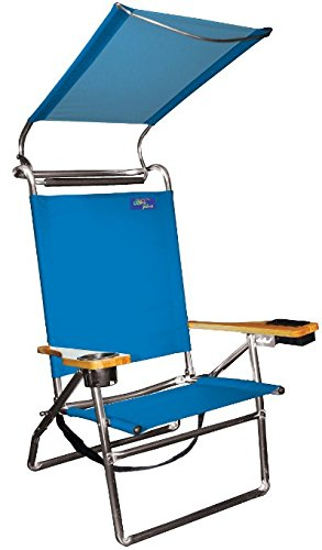 Deluxe 4 Position Aluminum High Seat Canopy Chair (Light Blue) Pkg/1  sc 1 st  Amazon.com & Amazon.com: Deluxe 4 Position Aluminum High Seat Canopy Chair ...