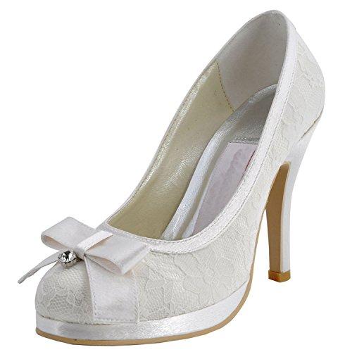 10cm Minitoo de Ivory Heel tendance Chaussures femme mariage ZZnqYUr