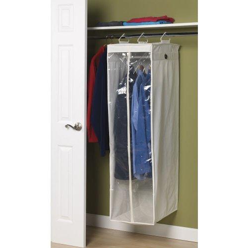 Household Essentials 311332 Hanging Wardrobe Garment Storage Bag | Natural Canvas