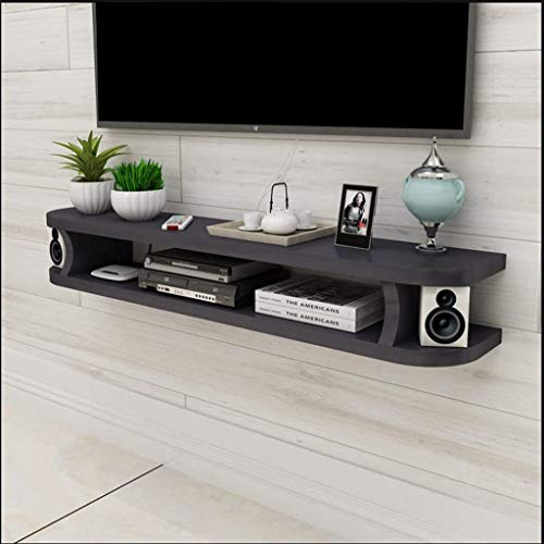Flower Stand Wall-mounted Floating TV Stand TV Console TV Cabinet Media Console Audio/video Console Open Storage Rack Living Room Furniture Component Frame DVD Satellite TV Box Cable Box,Size:80×20×15 from CHOUCHOU
