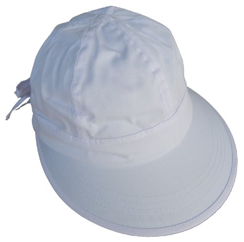 Poly Face (Face Saver Hat with small brim (White))