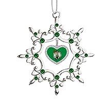 Boston Celtics Snowflake Christmas Tree Ornament