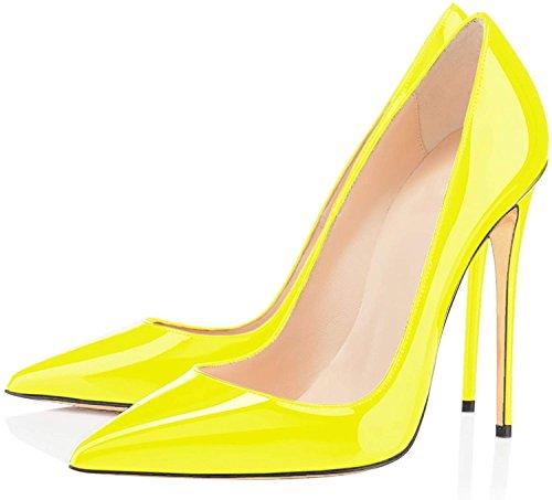 Edefs Spillo A Tacco 12cm Da Classico Col giallo High A Donna Heels Scarpe CrqCSwx4