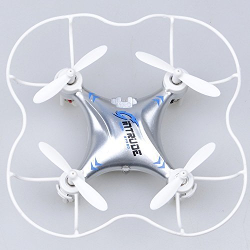 GPTOYS SPACE TREK Nano 2 4GHz & 6 Axis Gyro Quadcopter Drone Rc Explorers Helicopter Quad Copter Advance 360 Flip Silver