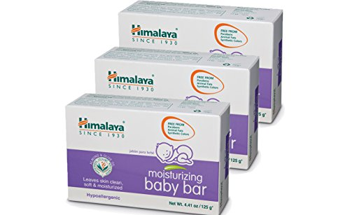 Himalaya Moisturizing Baby Bar with Olive Oil and Almond Oil (3 Pack)