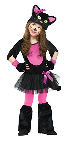 Fun World Costumes Baby Girl's Miss Kitty Toddler Costume, Black/Pink, (Child Kitty Costumes)