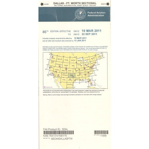 FAA Chart: VFR Sectional DALLAS SDAL (Current - In Dallas Shops Airport