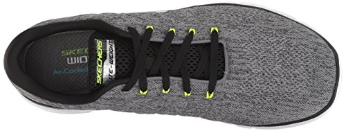 Skechers Gybk Black 0 Chaussures Stally Flex 3 Fitness Advantage Grey Homme de Gris rCrpq