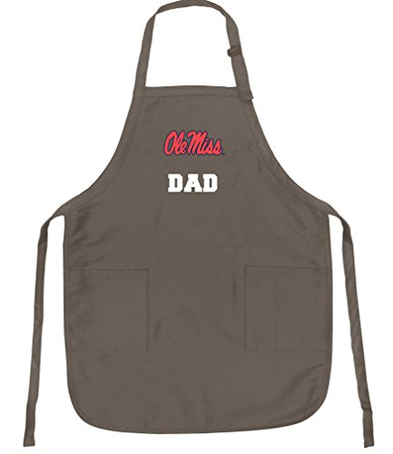 Broad Bay Ole Miss Dad Apron Best University of Mississippi Father Logo Gift for Man Him