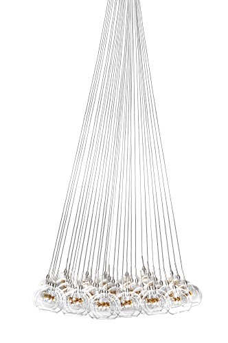 ET2 Lighting E20112-25 37-Light Starburst Star Multi-Light Pendant, Satin Nickel and Polished Chrome - 37 Et2 Lighting