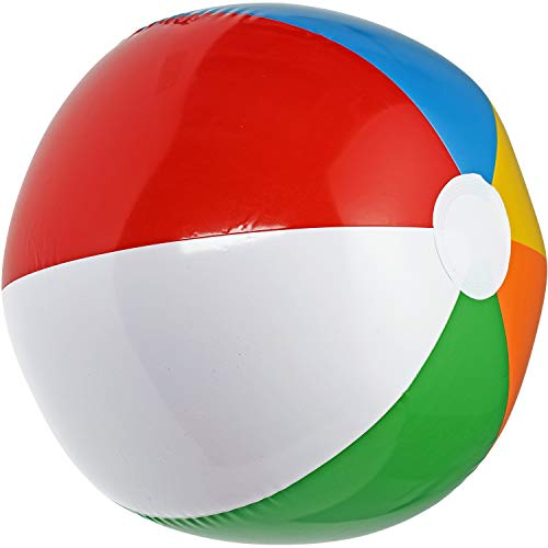NJ Novelty Large Inflatable Beach Balls 20 Inch, Pack of 12 Rainbow Colored for Pool Party, Summer Water Fun and Birthday Parties - Bulk Pack for Adults and Children -