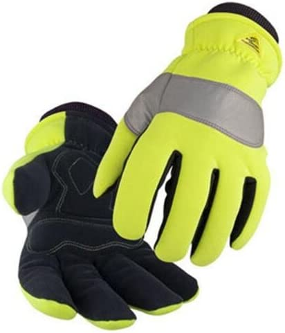 Spandex Synthetic Leather Storm Cuff Hi Vis Insulated Mechanic S Gloves Size Large Work Gloves Amazon Com