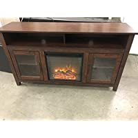 New 58 Inch Long Highboy Fireplace Television Stand