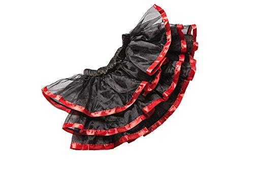 ZAMME Bailarín de Halloween de las mujeres DressOverbust corsé gótico más pechugón del vestido del corsé con la mini falda Rojo