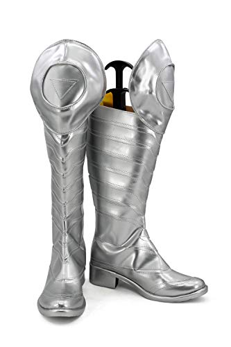 GOTEDDY Adult Men Cosplay Boots Halloween Leather Shoes Costume Accessories]()