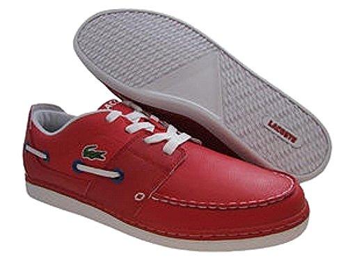 LaCoste Mens Cabestan Cup BC SPM Red Leather Fashion Sneaker US 12 NIB xr6vV1fSn
