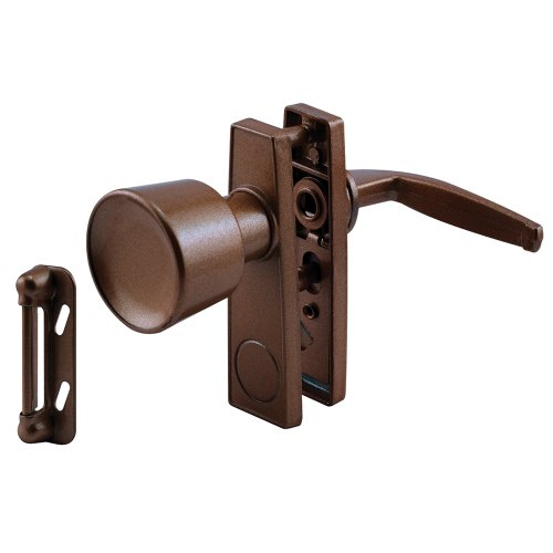 Prime-Line Products K 5170 Tulip Knob Latch Set for Screen or Storm Door, Brown