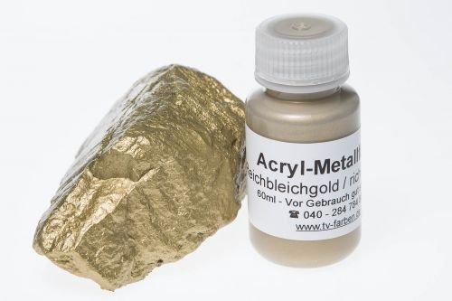 Metallfarbe Reichbleichgold 60ml, Acryl Goldfarbe, Goldlack, Goldeffektfarbe